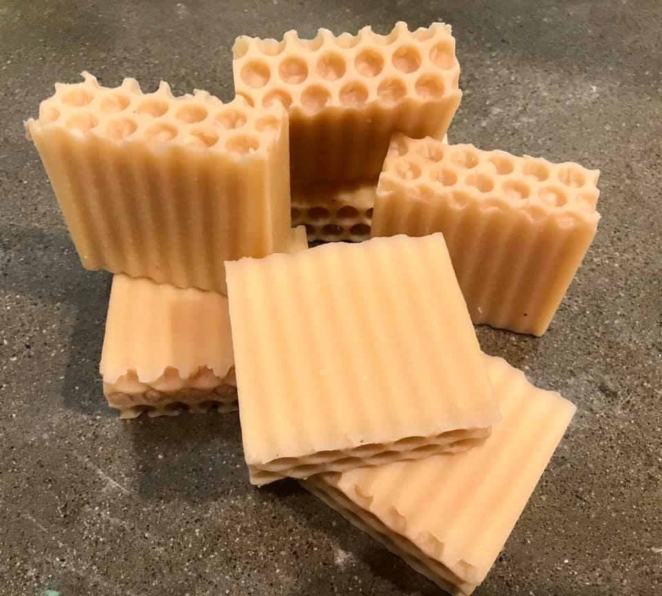 Hand Made Wildflower Honey Cold Processed Soap