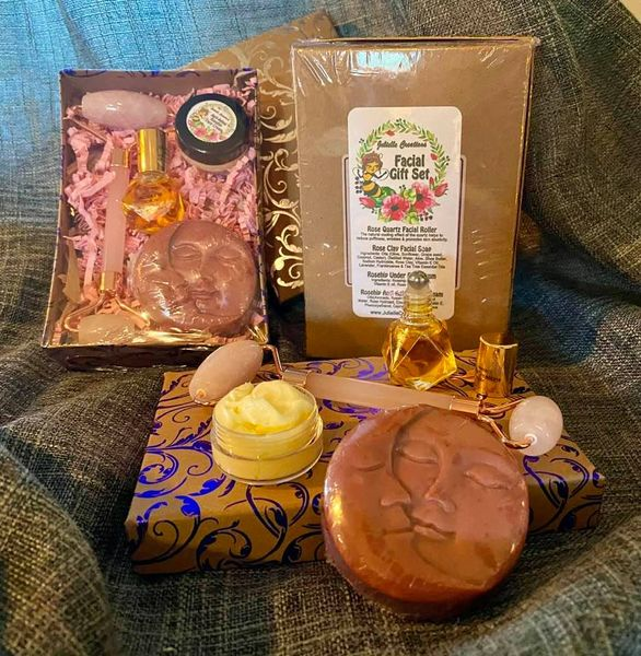 Eye Serums, Moisturizing Face Cream, Rose Quartz and Jade Facial Massage Rollers